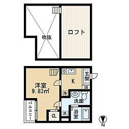 アーバンプレイス[2階]の間取り
