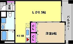 兵庫県芦屋市大桝町の賃貸マンションの間取り