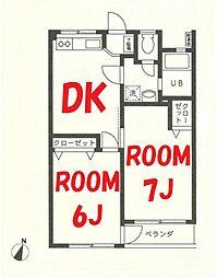 神奈川県横浜市鶴見区栄町通3丁目の賃貸マンションの間取り