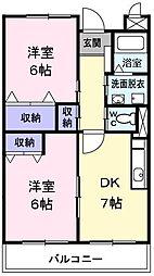 東京都青梅市友田町3丁目の賃貸マンションの間取り