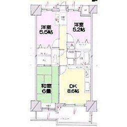 香川県高松市茜町の賃貸マンションの間取り
