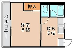 東林寺コーポ[3階]の間取り