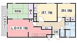 CASA・DE・PATIO[1階]の間取り