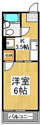 シティハイムK[2階]の間取り