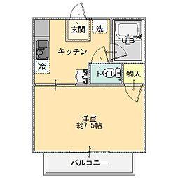 あづみコーポ[203号室]の間取り