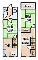[一戸建] 大阪府東大阪市大蓮南2丁目 の賃貸【/】の間取り