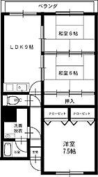 パークビューマンションI[3LDK号室]の間取り