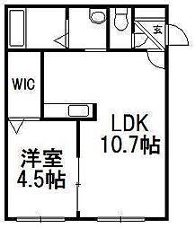 COROCORO KIKUSUI(コロコロ菊水)[4階]の間取り