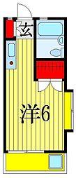 千葉県船橋市西習志野4丁目の賃貸アパートの間取り