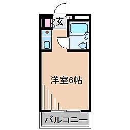 神奈川県横浜市港北区菊名7丁目の賃貸マンションの間取り