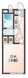 埼玉県さいたま市見沼区大字丸ヶ崎の賃貸アパートの間取り