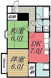 千葉県千葉市若葉区桜木7丁目の賃貸アパートの間取り