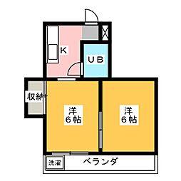 レジデンス富士見[3階]の間取り