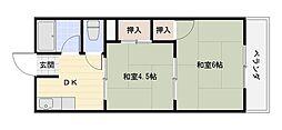 門野マンションB[2階]の間取り