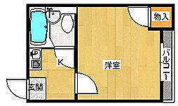 シャルマン岡山[2階]の間取り
