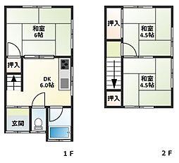 ファミーユヤノ2号棟[1階]の間取り