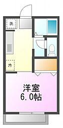 コートナカミチA[2階]の間取り
