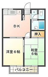 エステートピアSUN[2階]の間取り