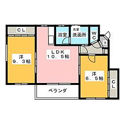 EAST・HILLS東山元町[1階]の間取り