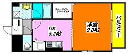 グランコート・ヒグチ 301号室[3階]の間取り