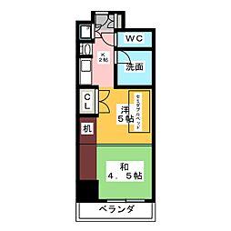 プログレンス栄[4階]の間取り