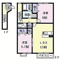 エクセルコートpartII−[0203号室]の間取り