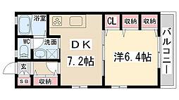 兵庫県伊丹市行基町1丁目の賃貸アパートの間取り