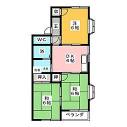 メロンハウス[2階]の間取り