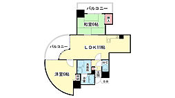 大阪府大阪市住之江区緑木2丁目の賃貸マンションの間取り