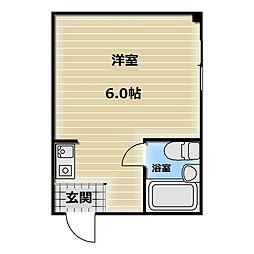 大阪府東大阪市寿町3の賃貸マンションの間取り