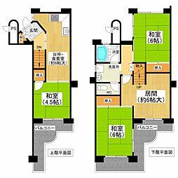 千代田第二住宅4階Fの間取り画像