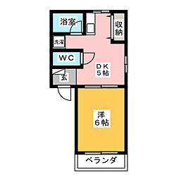 ROYAL HEIGHTS 2[1階]の間取り