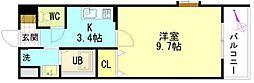 広島県広島市安佐南区祇園5丁目の賃貸マンションの間取り