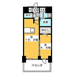 プレサンス錦通 THE 葵 8階1LDKの間取り
