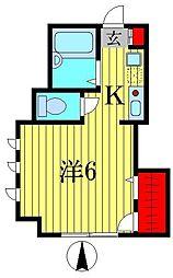 コーラハウス[2階]の間取り