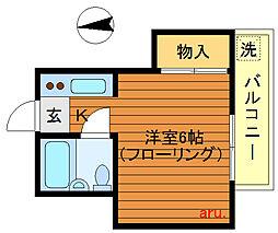 東京都三鷹市井の頭2の賃貸アパートの間取り