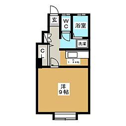 Tハウス[1階]の間取り