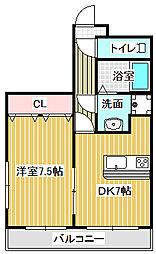 愛知県名古屋市中川区荒中町の賃貸マンションの間取り