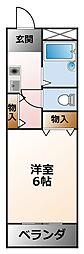 ピルテ甲子園[2階]の間取り