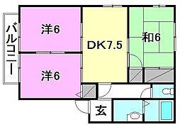 ディアス村上[E-202 号室号室]の間取り