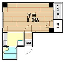 ロイヤルハイツ兵庫[4階]の間取り