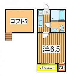 DHG.恵[203号室号室]の間取り