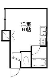 新潟県新潟市中央区南万代町の賃貸アパートの間取り