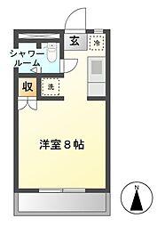 ハイツナリタ[2階]の間取り