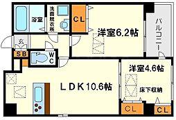 Quatresaisons新大阪(キャトルセゾン新大阪)[3階]の間取り