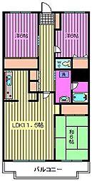ステラ浦和[1階]の間取り