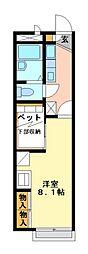 兵庫県神戸市北区有野中町4丁目の賃貸アパートの間取り
