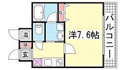 アドバンス神戸アルティス[14階]の間取り