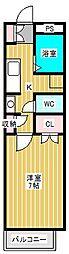 ヒューマンパレス新松戸I[1階]の間取り