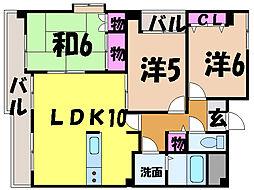 愛媛県松山市持田町1丁目の賃貸マンションの間取り